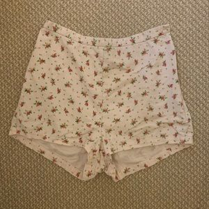 American Apparel pink floral shorts
